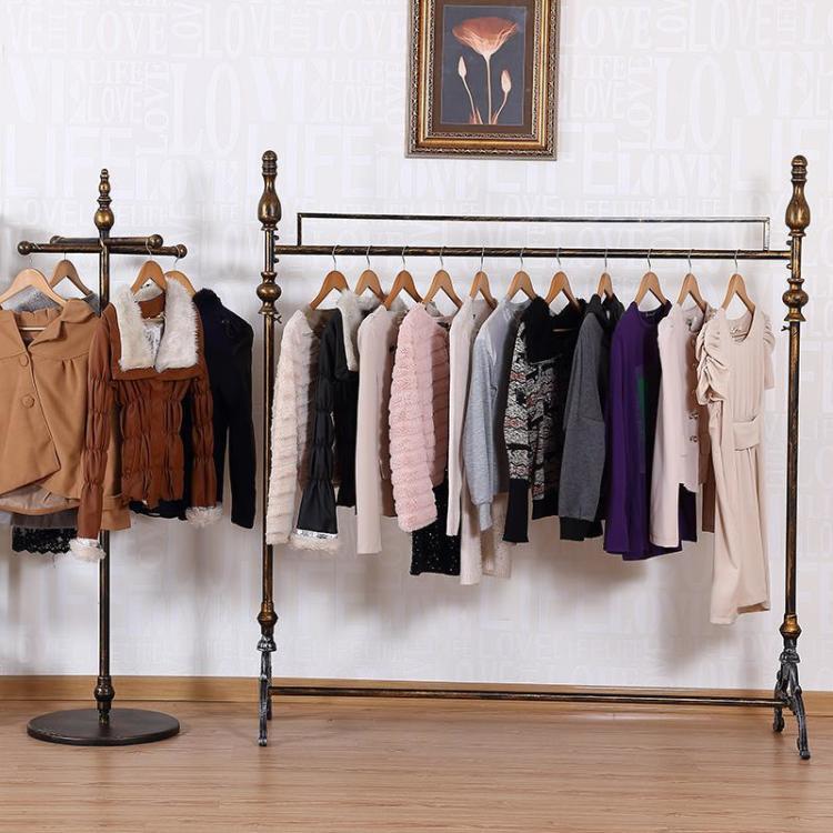 欧式 铁艺服装架 服装店衣架展示架