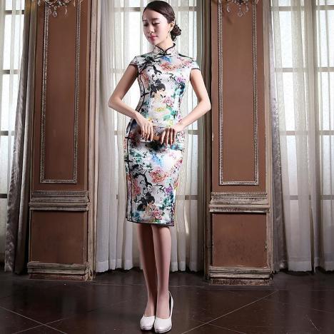 重磅真丝 高档旗袍 精致裁剪 双层面料 优雅奢华.