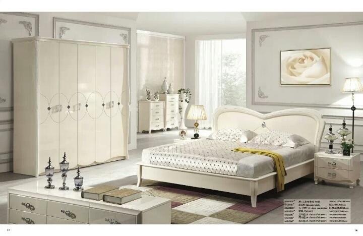 8米床+床头柜+梳妆台+5门衣柜