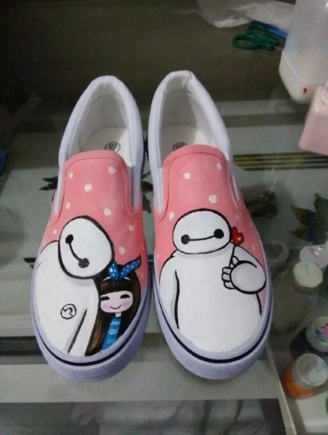 创意手工鞋子画画图片