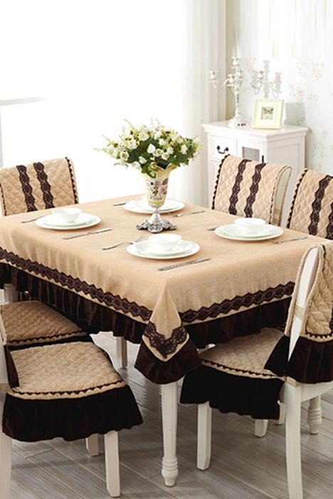 欧式绒面 餐桌椅布】-家居-居家布艺