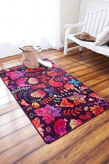 Thảm phòng khách màu tối, phong cách thu hút