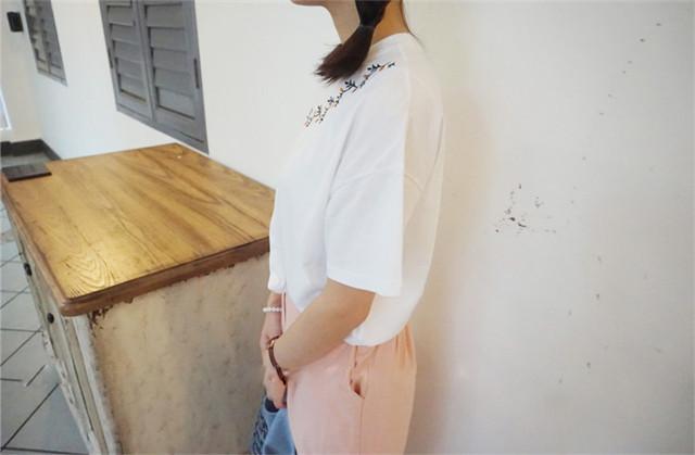 【树枝刺绣t恤】-衣服-服饰鞋包