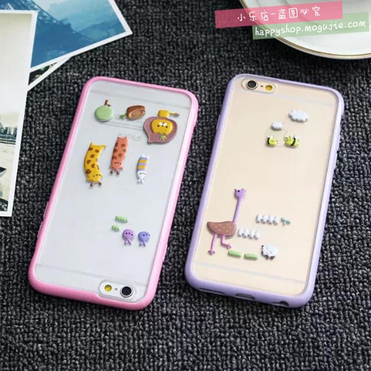 苹果iphone6可爱泡泡贴手机壳
