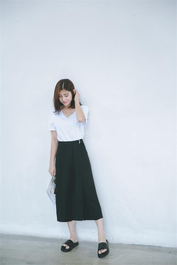 【不规则裁剪阔腿裤】-衣服-裤子