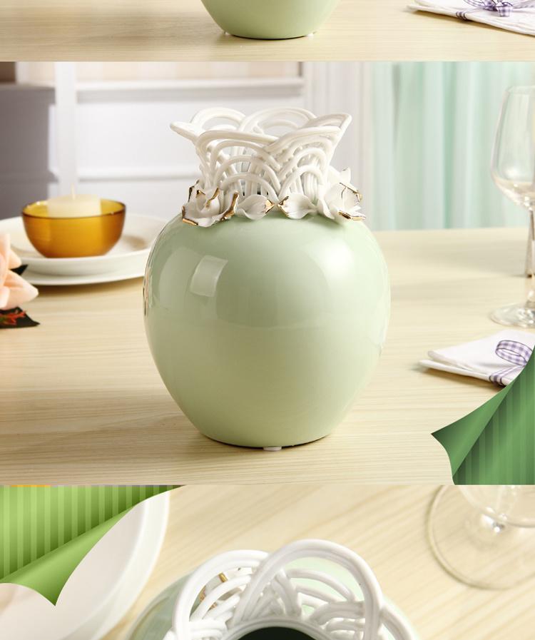 【创意简约欧式陶瓷花瓶花器家居饰品摆件客厅台面】
