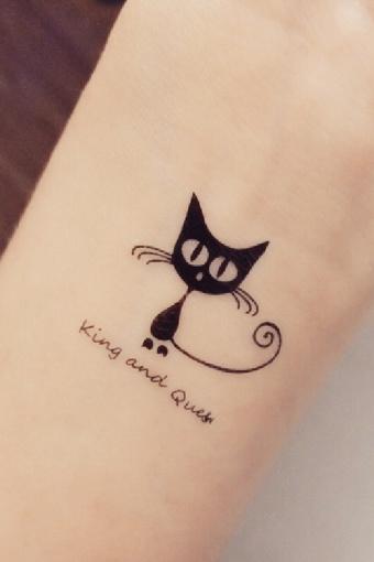 小猫咪纹身贴纸分享展示