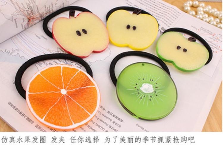 最新韩国柠檬片原宿可爱软妹田园小清新水果发圈