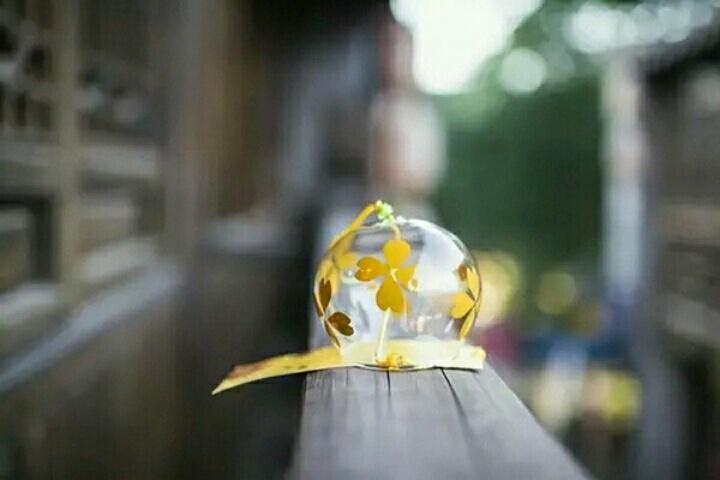 【日式手绘风铃(四叶花)】-无类目-风铃及配件
