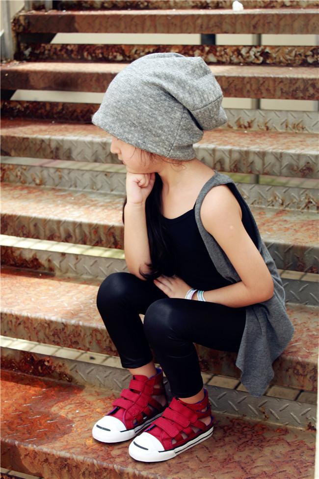 秋冬欧美街拍儿童堆堆帽子 亲子包头帽 亲子潮帽