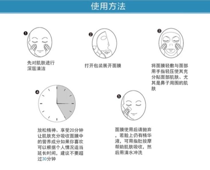 贴片面膜使用步骤