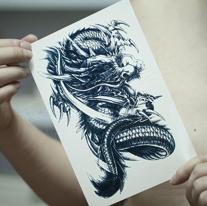 披肩龙纹身图案大全图片男分享展示图片
