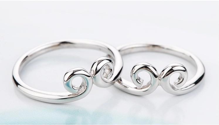 925纯银金箍咒情侣戒指