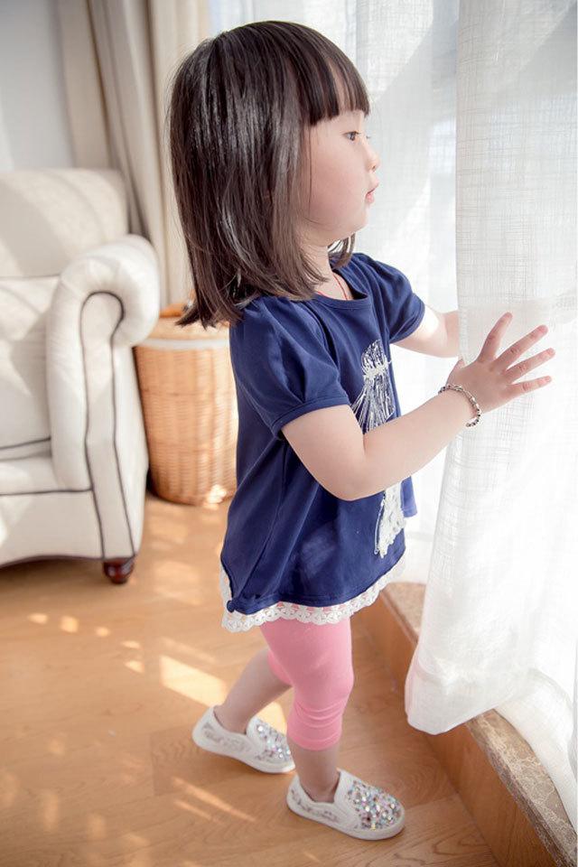 【可爱卡通萌系蕾丝女孩+裤子】-母婴-母婴用品