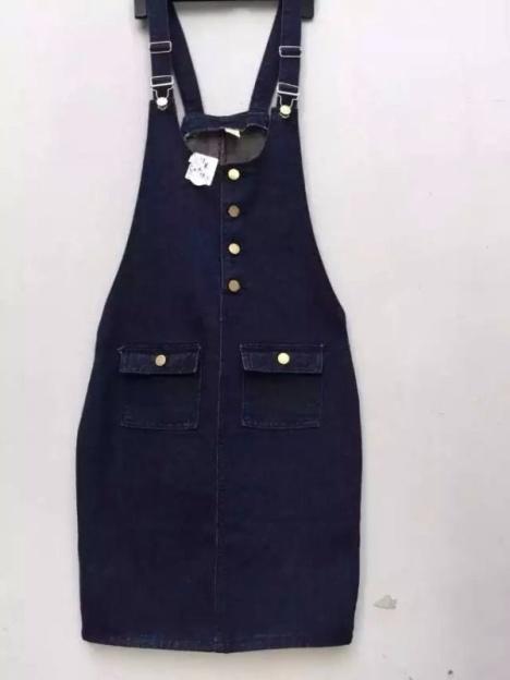 【牛仔背带裙】-连衣裙