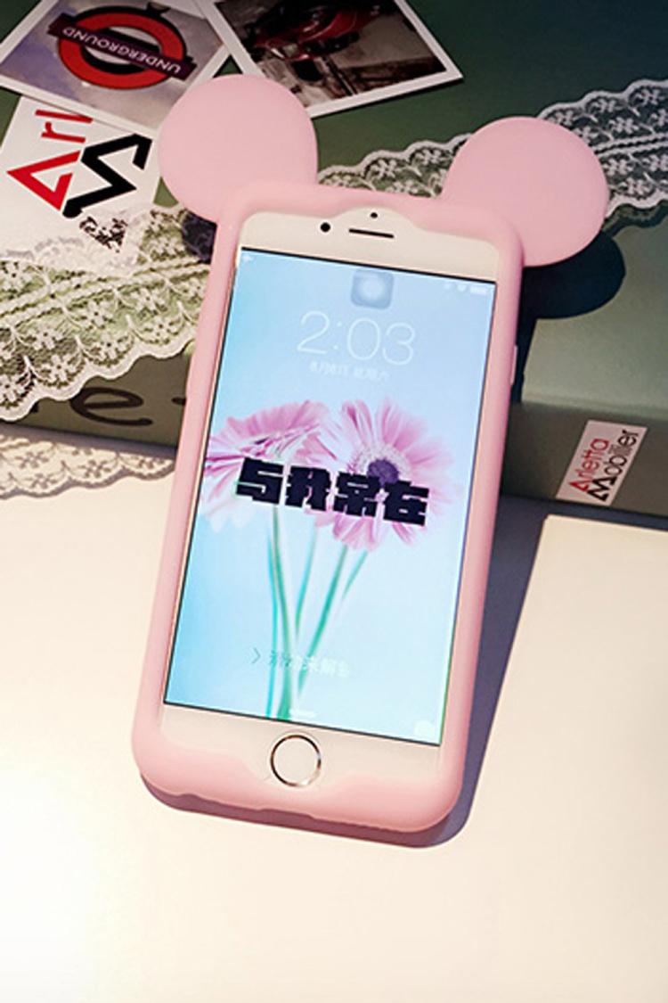【粉色迪士尼米奇手机边框套】-配饰-3c数码配件