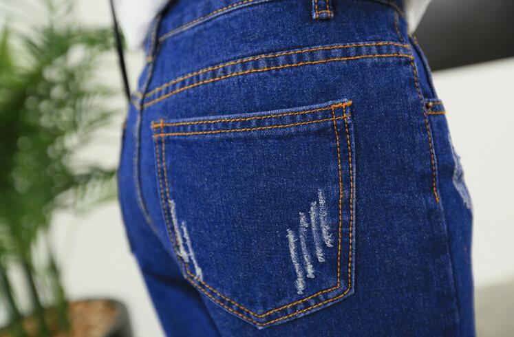 【kawaii卡通破洞牛仔裤】-衣服-裤子