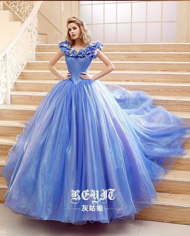 灰姑娘同款欧式婚纱礼服2015夏秋新款灰姑娘同款公主裙一字肩婚纱拖尾