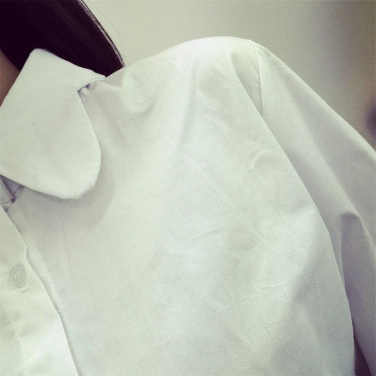 【可爱娃娃领长袖衬衫】-衣服-服饰鞋包_女装_上装