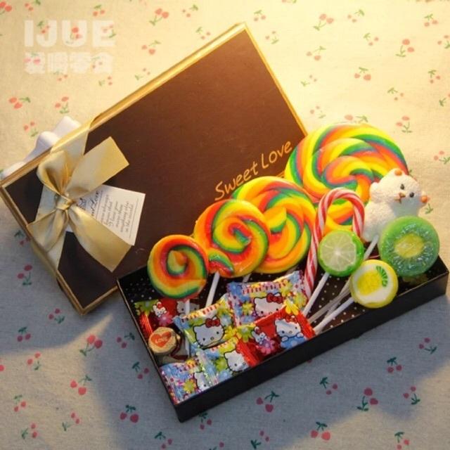 超大可爱波板棒棒糖果礼盒