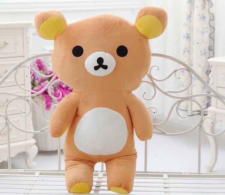 易烊千玺同款可爱轻松熊公仔毛绒玩具大号抱枕卡通抱抱小熊布娃娃