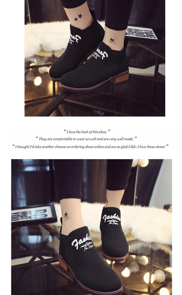 (米诺)韩版字母印花弹力布短靴德力西断路器800a图片