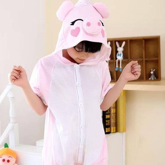 夏季短袖卡通动物儿童连体睡衣