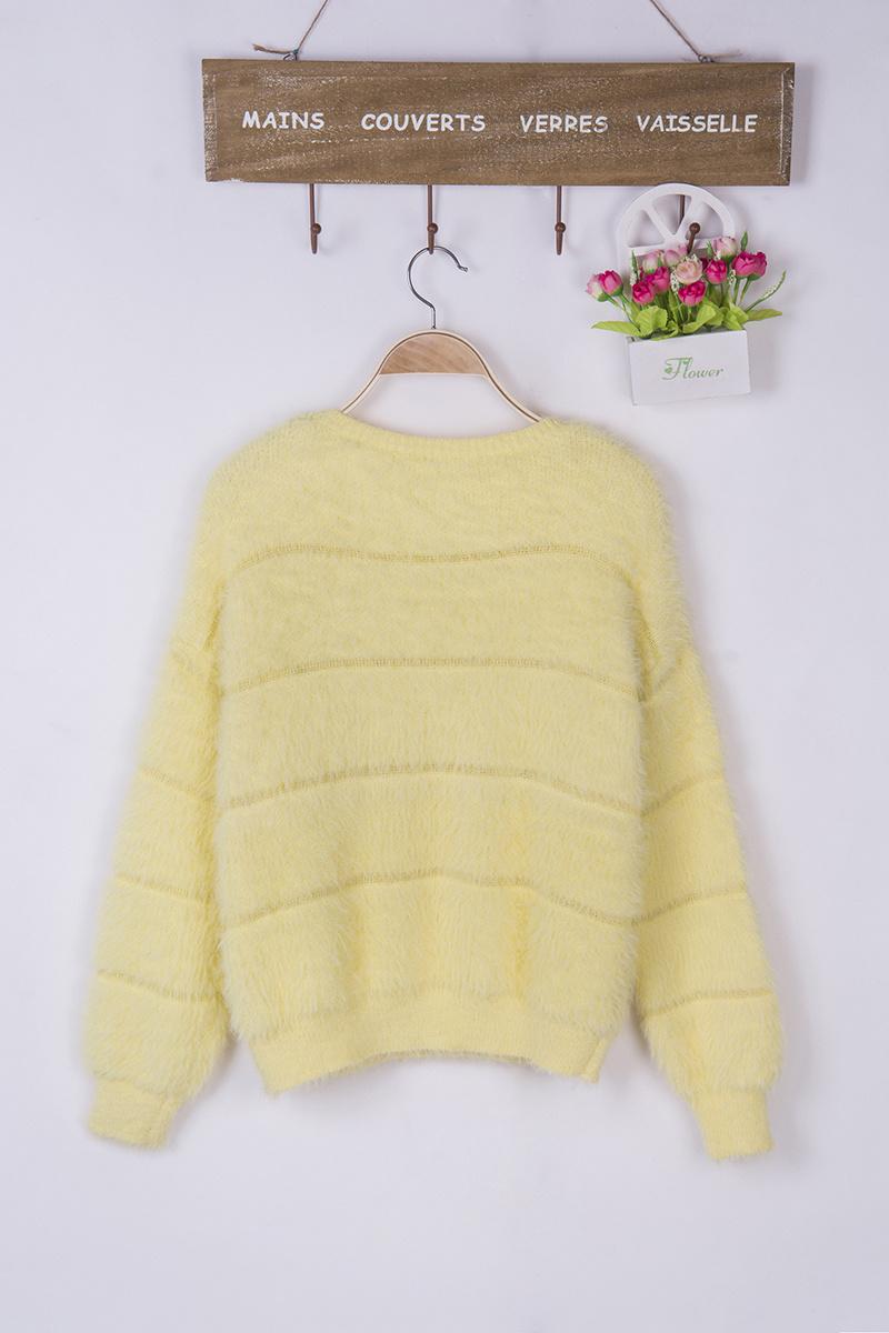 【新款纯色圆领绒毛套头毛衣】-衣服-其他毛衣_上装