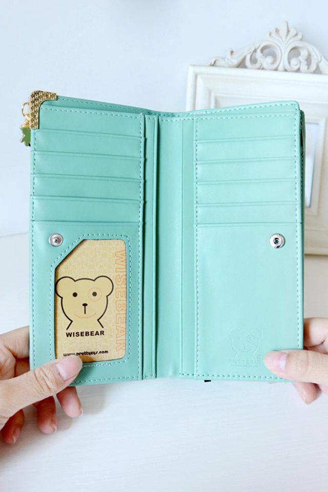 2015新款小熊吊坠女生钱包
