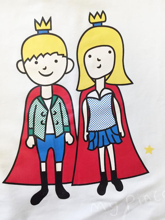 卡通王子公主印花长袖卫衣