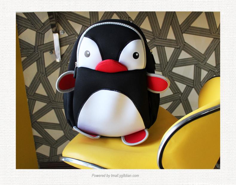 阳光8点幼儿园小中大班卡通可爱企鹅宝宝超轻环保潜水料儿童书包