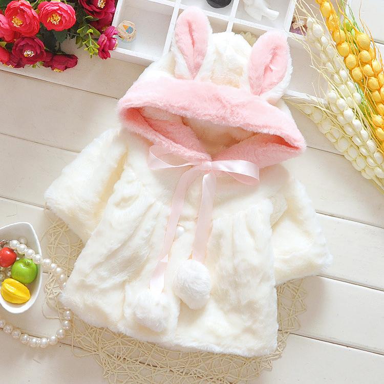 2015韩版童装秋冬款婴幼儿外套0-3女童保暖超萌毛毛秋外套