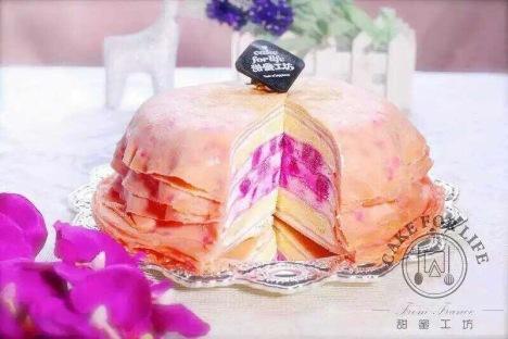 【【红心火龙果千层 8寸】】-西式糕点图片