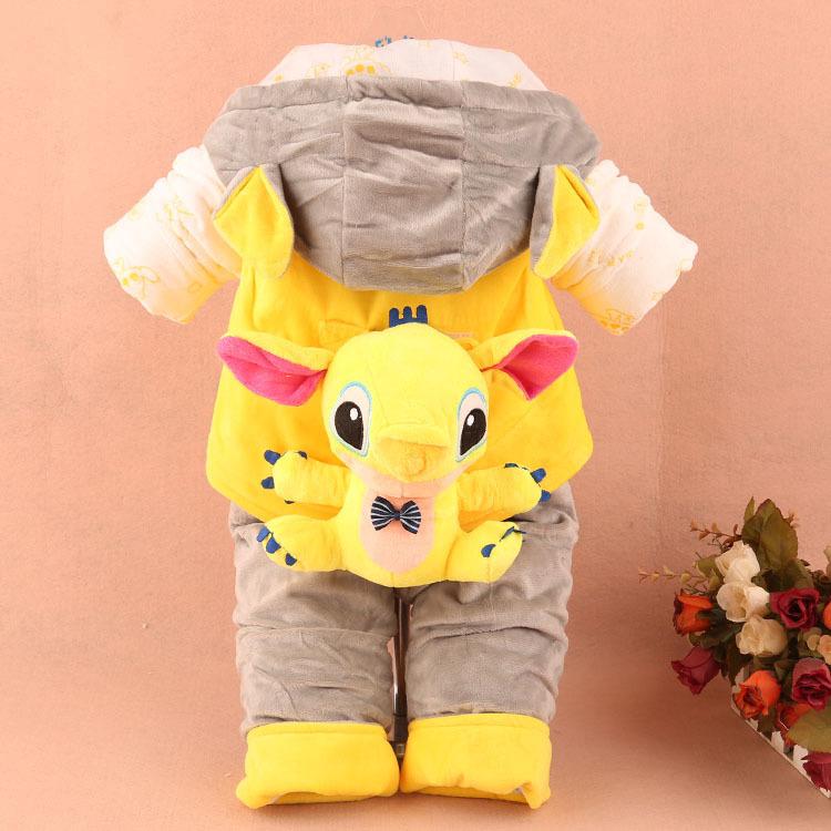 宝宝秋冬装套装婴幼儿0-1-2-3岁冬季婴儿棉衣服三件套加厚整体款式
