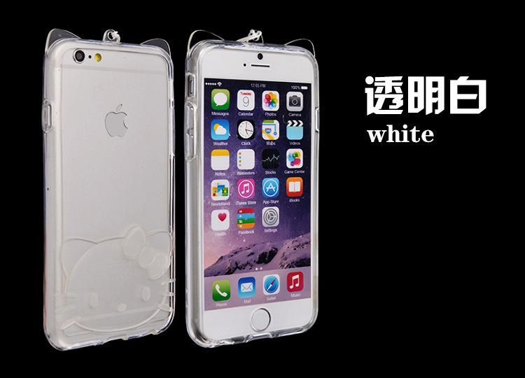 苹果6手机套plus防摔超薄透明卡通5s边框新款手机壳