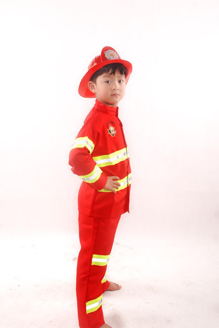 儿童职业装消防员体验员幼儿角色服装演出服表演服厨师消防医生服