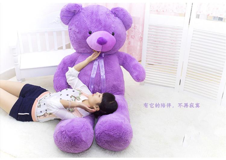 紫熊 小熊紫色泰迪熊公仔毛绒玩具布娃娃玩偶送女生生日礼物