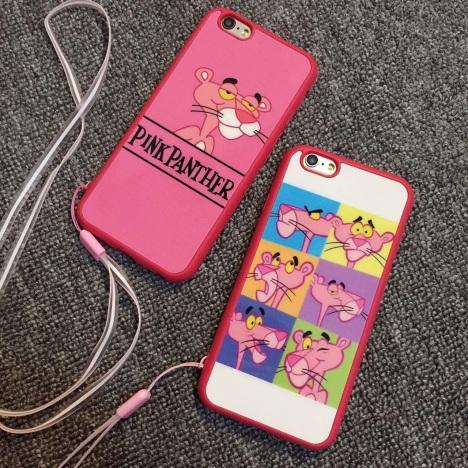 【彭于晏の新款】可爱粉色顽皮豹苹果手机壳