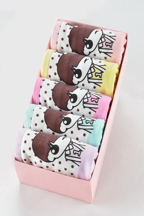 【【5条盒装】可爱内裤卡通女士】-少女-内衣发吃长头女生什么图片