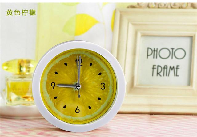 【时尚创意水果柠檬造型闹钟】-无类目-台钟/闹钟图片