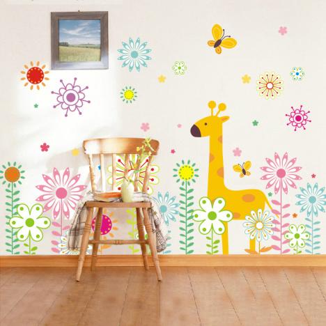幼儿园小鹿墙面装饰图片