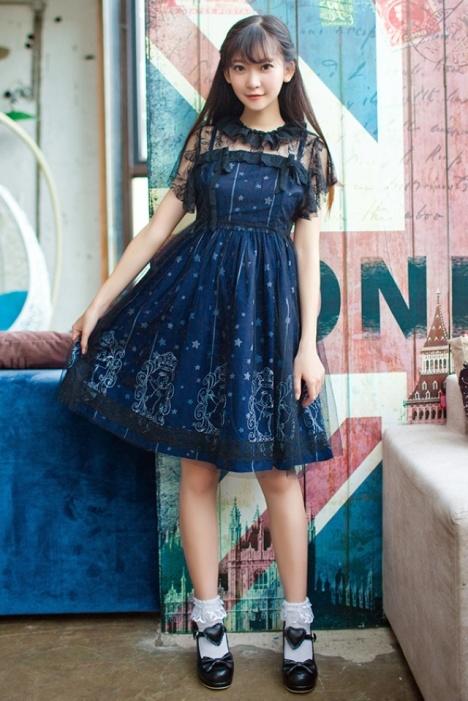 【软妹连衣裙蕾丝lolita洋服洋装】-衣服-连衣裙_裙子