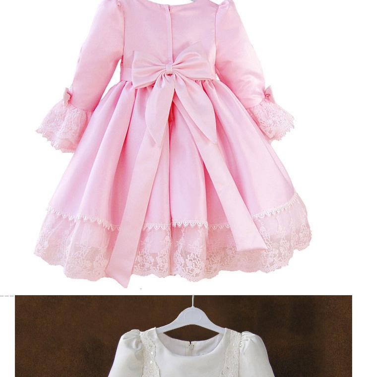 女童欧式复古宫廷礼服儿童公主裙连衣裙花童蓬蓬裙婚纱裙表演礼服