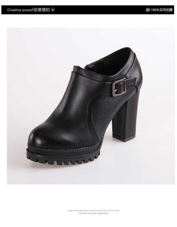 【欧美粗跟高跟鞋】-鞋子-女鞋_服饰鞋包_靴子-妖精的