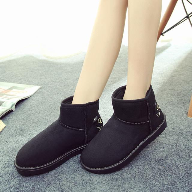 【猫咪可爱卡通雪地靴】-鞋子-女鞋