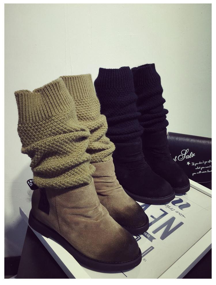【duang~多穿瘦腿毛线编织长靴】-鞋子-靴子_女鞋_鞋