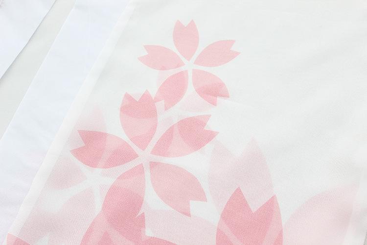【樱花序和风印花刺绣三件套】-衣服-其他套装图片