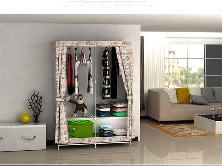 【无纺布折叠简易衣柜】-null-柜类