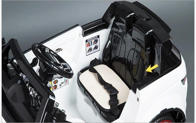 好来喜路虎sx118儿童电动车双驱遥控童车玩具车儿童可坐汽车