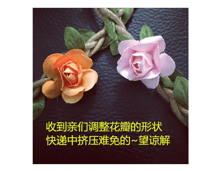 【唯美森系小清新花朵发带】-无类目-配饰